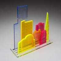 Ontwerp skyline van acrylaat