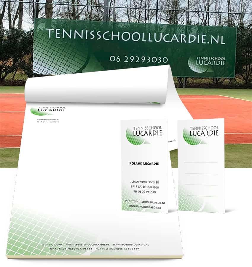 Huisstijl Tennisschool Lucardie