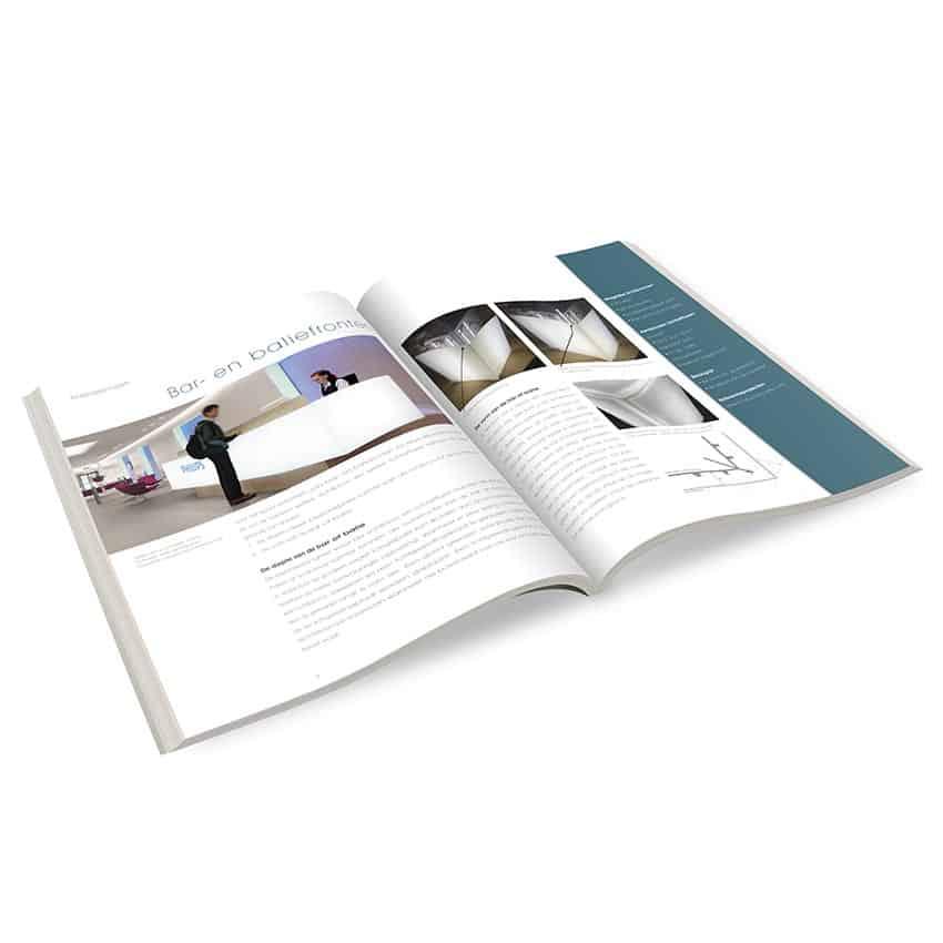 Ontwerp binnenwerk brochure 'Eerste hulp bij egaal verlichten'